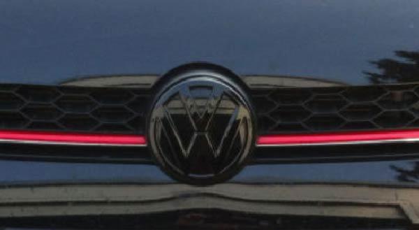 VW Emblem Schwarz