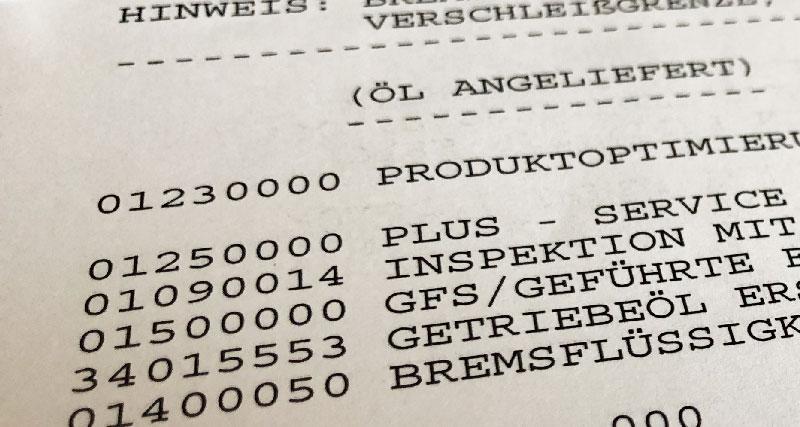Inspektion VW Golf 7