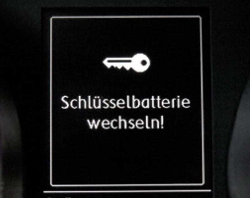 Meldung Schlüssel Batterie Wechsel VW Golf 7