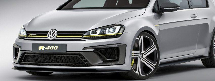 Frontansicht Silberner VW Golf R Concept 2