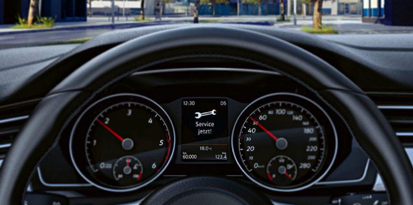 Service Anzeige von einem VW Tiguan