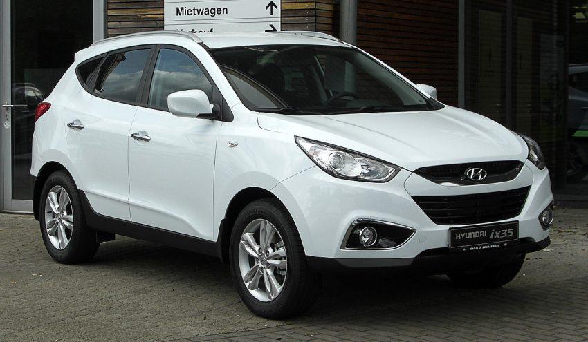 Weißer Hyundai ix35 Frontansicht SUV