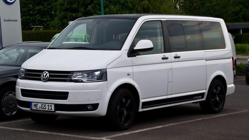 Weißer VW T5 Multivan Edition 25 Frontansicht