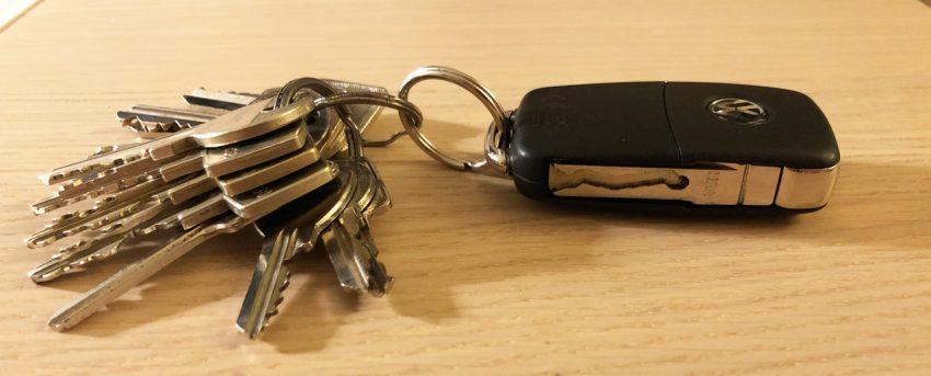VW UP Schlüsselbund