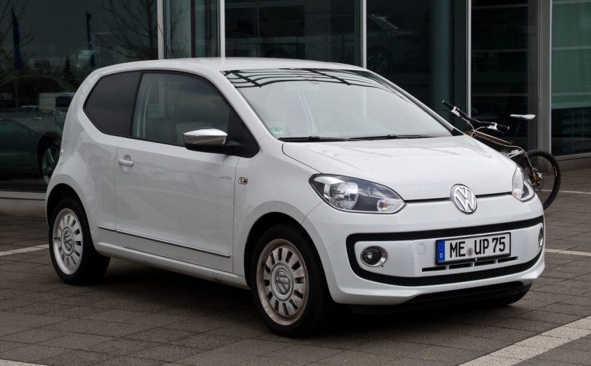 2 Türer Weißer VW UP 1.0 Frontansicht
