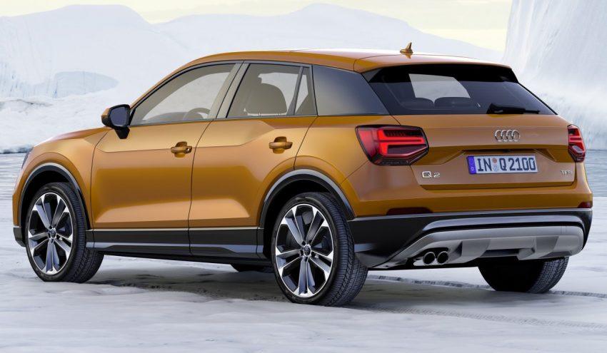 Heckansicht Bronze Audi Q2 TFSI