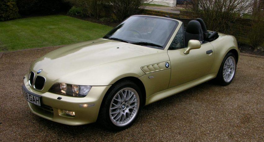 Goldener BMW Z3 Roadster Cabrio Frontansicht