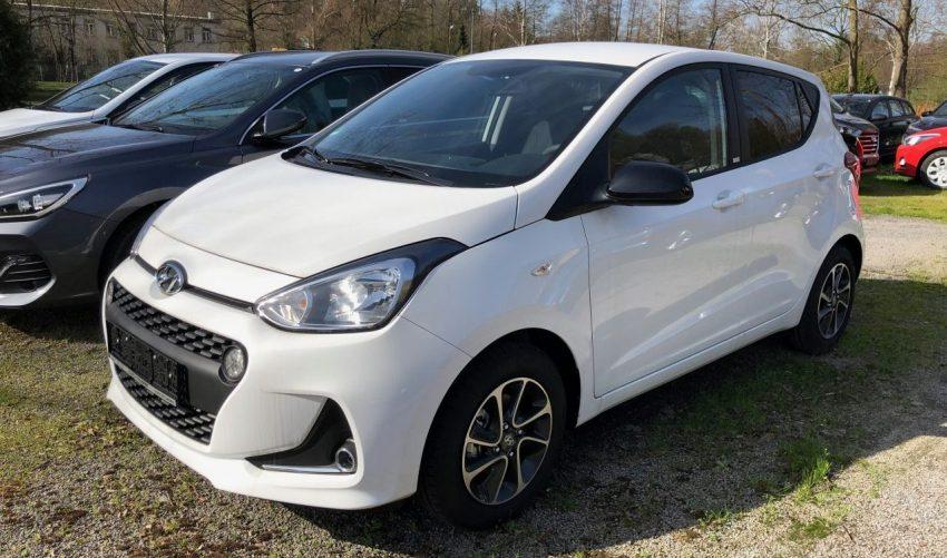 Seitenansicht Weißer Hyundai i 10