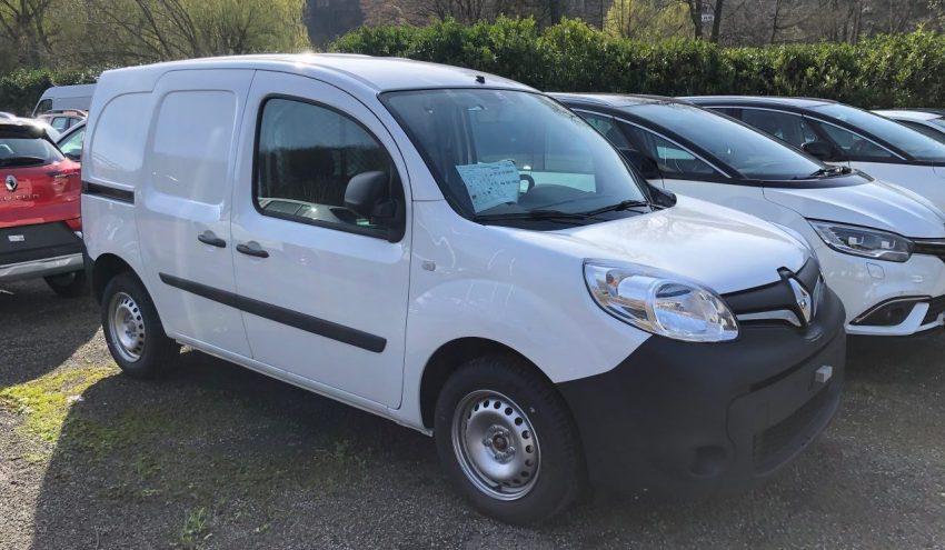 Seitenansicht Weißer Renault Kangoo