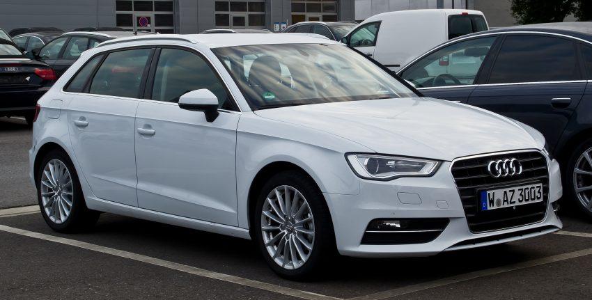 Frontansicht Weißer Audi A3
