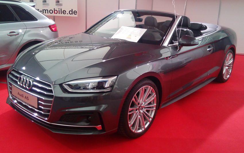 Grauer Audi A5 Cabriolet Frontansicht