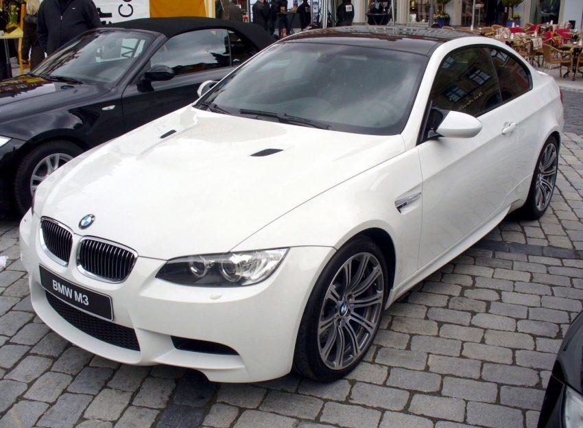 Frontansicht Weißer BMW M3