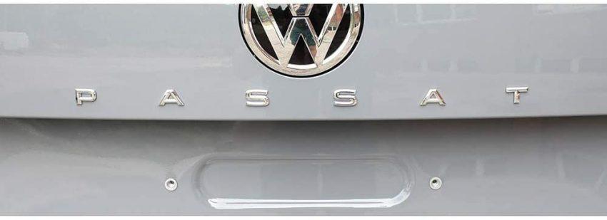 Heckansicht VW Passat Schriftzug