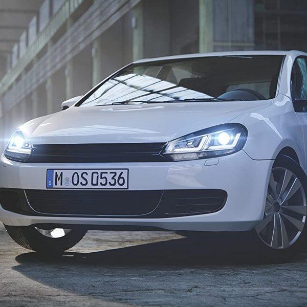 Frontansicht Weißer VW Golf 6