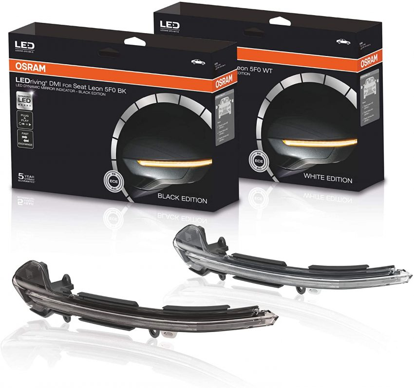 Osram LED Spiegelblinker Black Edition Seat Leon