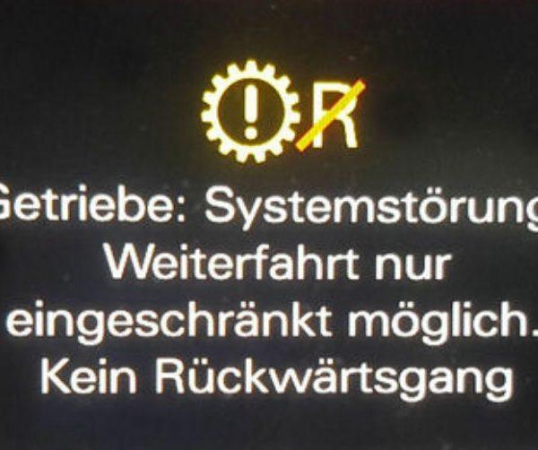 Systemstörung Getriebe Audi S