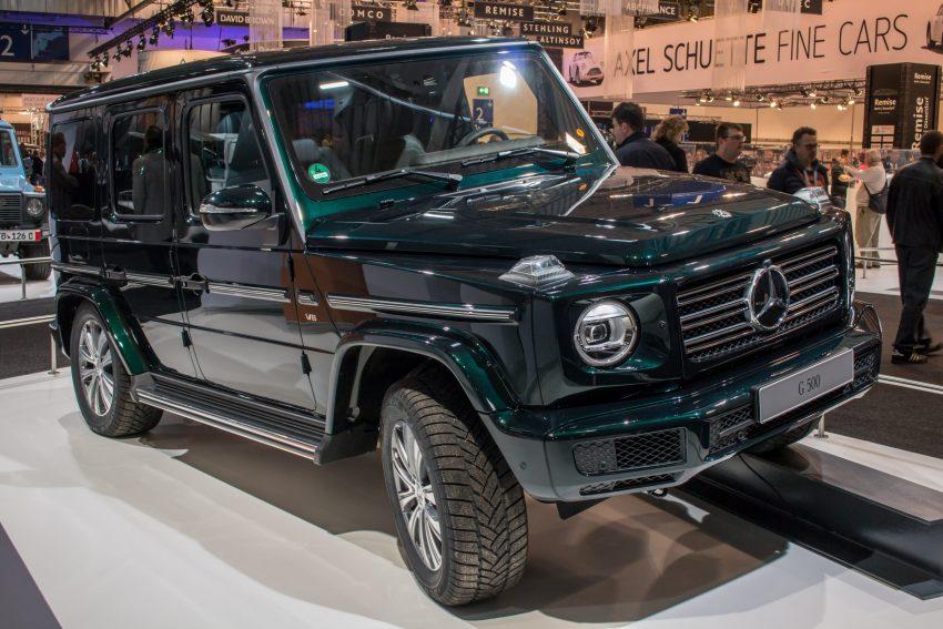 Frontansicht Grüner Mercedes G Klasse