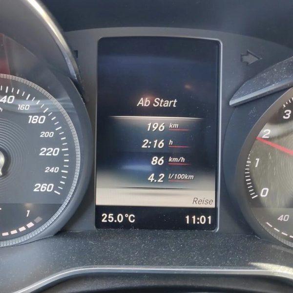 Km/h Anzeige Tacho Mercedes C Klasse