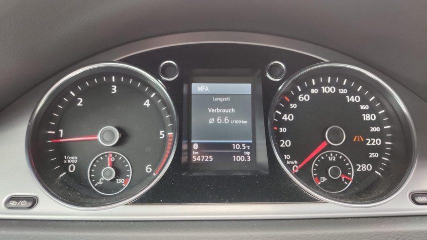 Verbrauch Anzeige VW Passat CC TDi