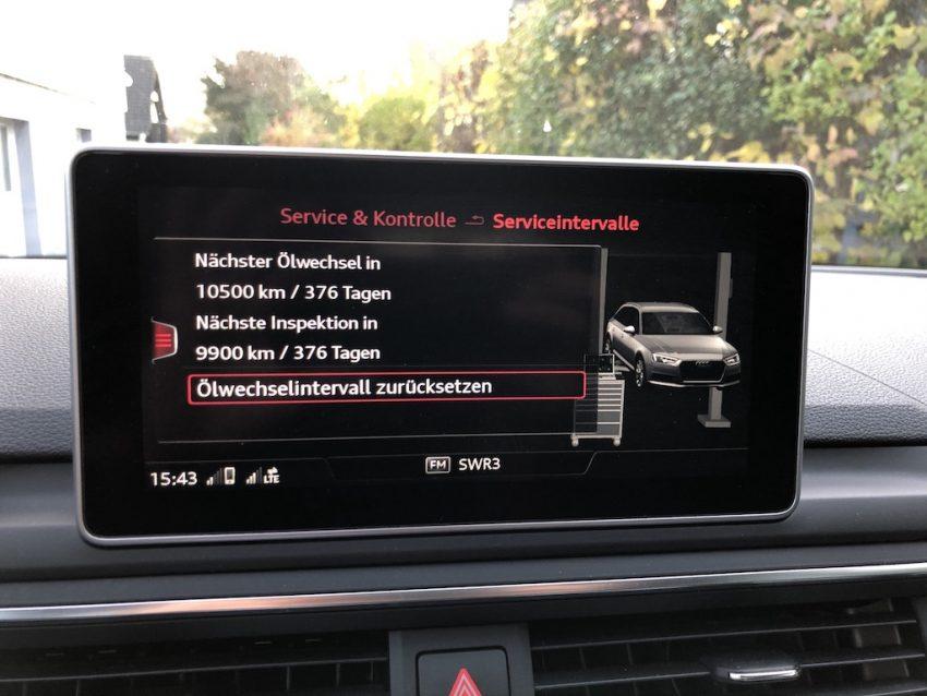 Inspektion Anzeige Audi A4
