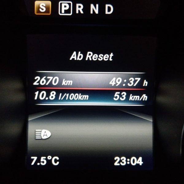 Verbrauch Anzeige Mercedes CLA