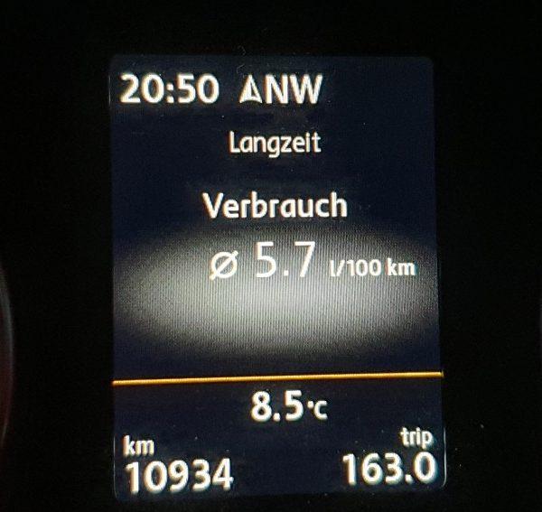 Verbrauchsanzeige VW Caddy