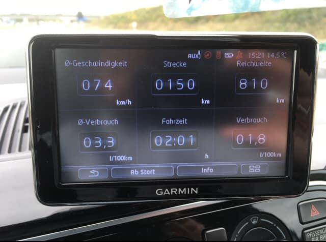 Verbrauch Anzeige VW UP