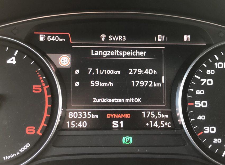 Verbrauch Anzeige Audi A4 B9 TDI