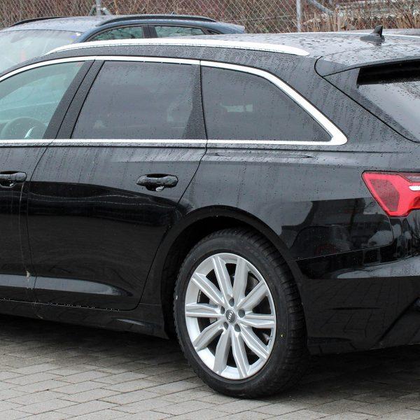 Seitenansicht eines Audi A6 C8 Avant mit TDI Motor und Quattro