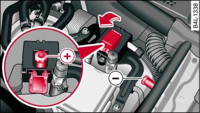 Ladeanschluss Motorraum Audi Q7