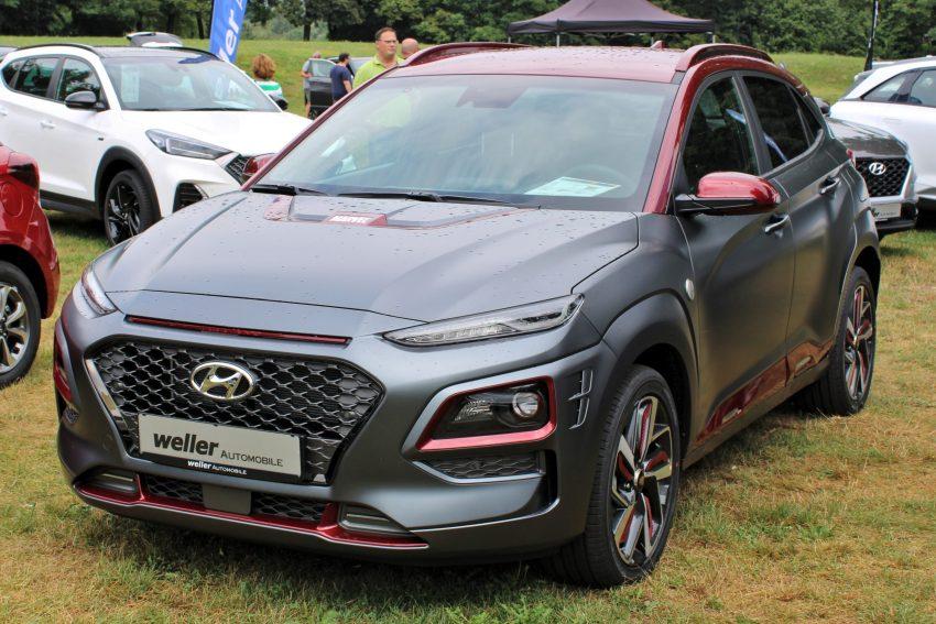 Hyundai_Kona Rot/Grau Frontansicht