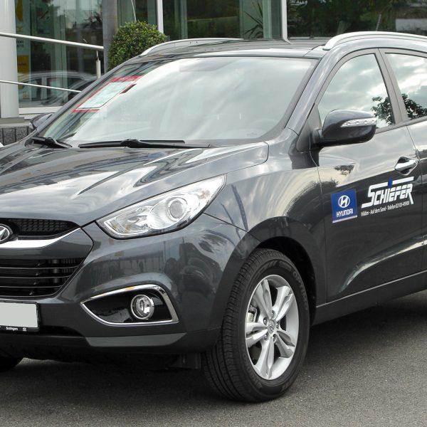 Grauer Hyundai_ix35 Frontansicht