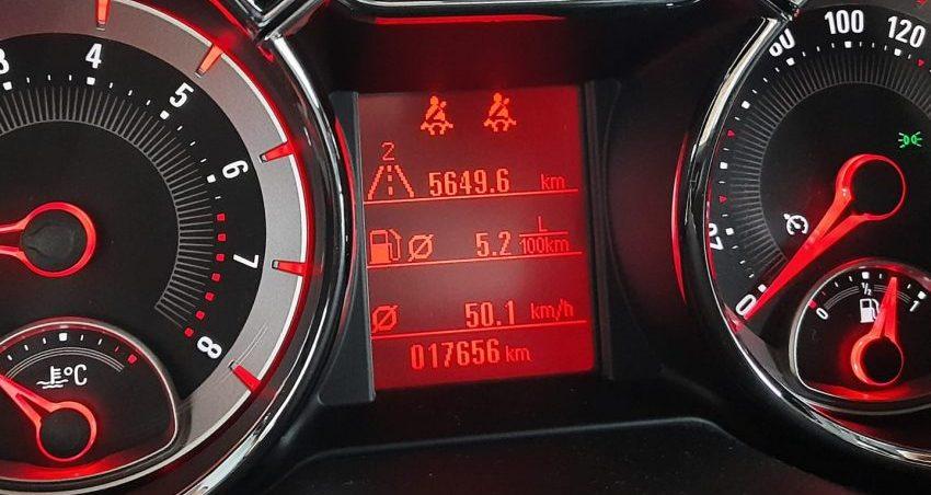 Verbrauch Anzeige Opel Adam