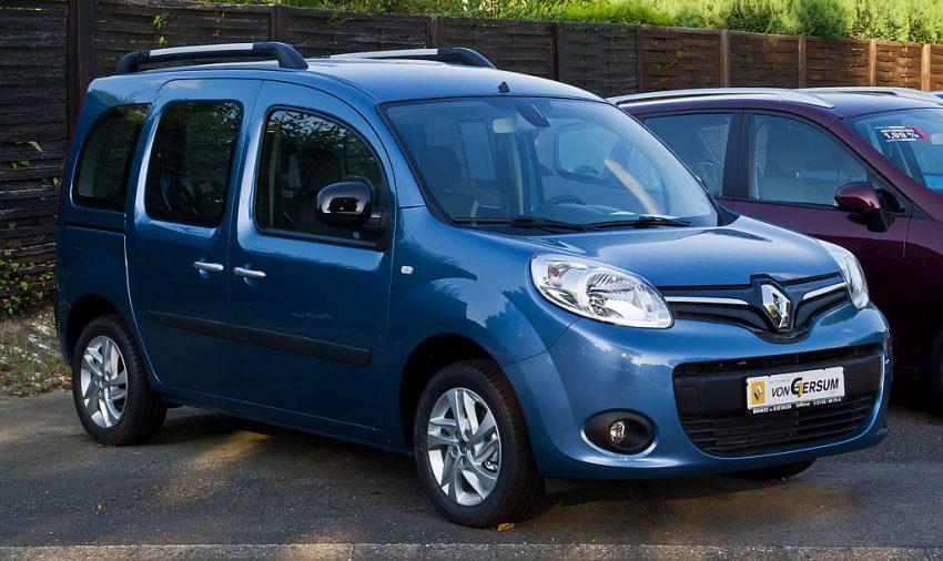 Blauer Renault Kongo Seitenansicht