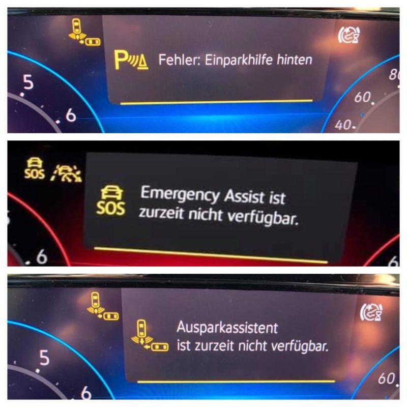 Fehlermeldungen im VW Golf 8