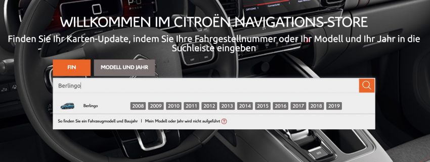 Screenshot Citroen Navi Update Download