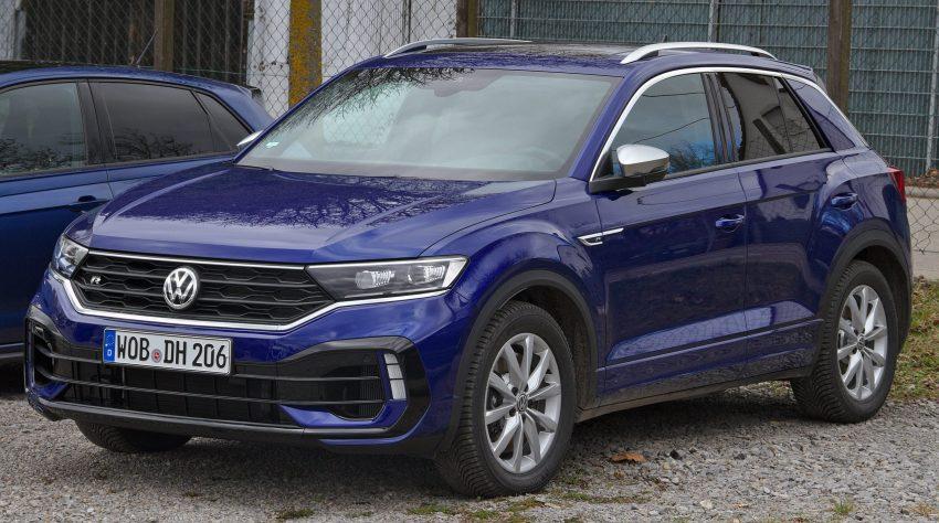 VW T-Roc R (blau, Frontansicht)