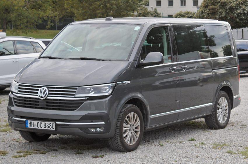 VW Transporter T6.1 Seitenansicht grau
