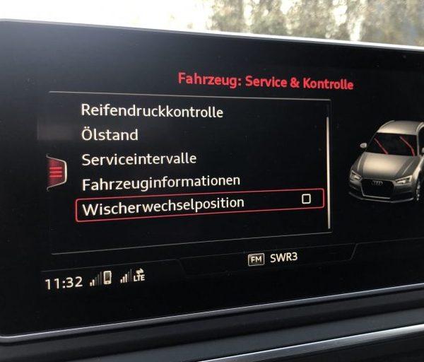 Audi A4 MMI Scheibenwischer Option