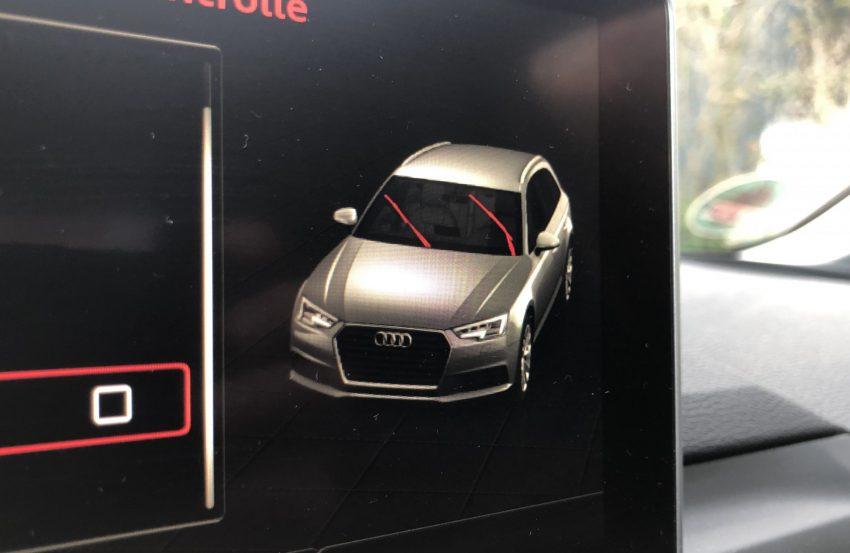Servicestellung der Audi Scheibenwischer
