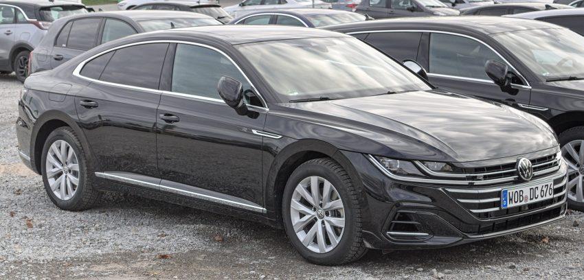 Schwarzer VW Arteon Facelift Frontansicht