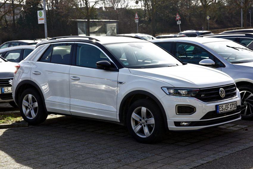 VW T-Roc R Line weiss Seitenansicht