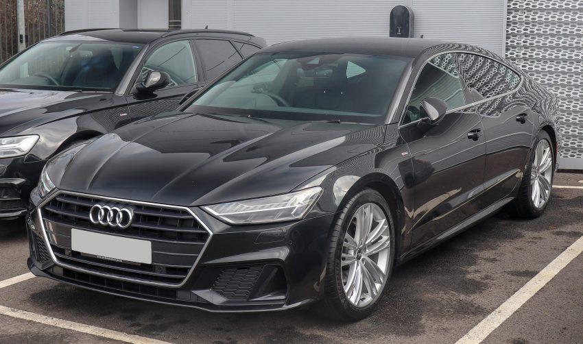 Audi A7 schwarz SLine Frontansicht