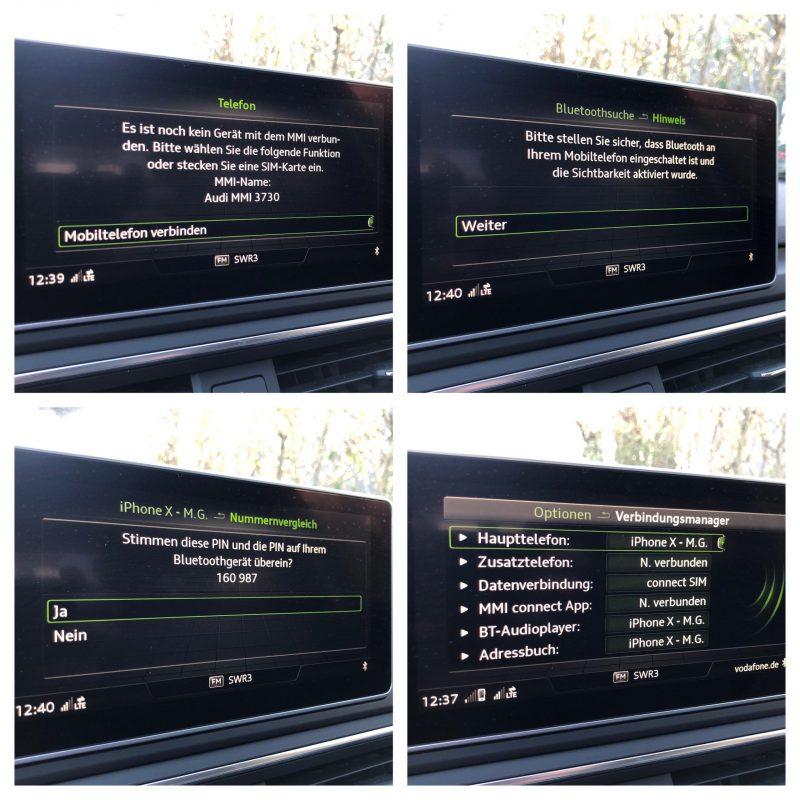 Anleitung zum Bluetooth koppeln im Audi MMI