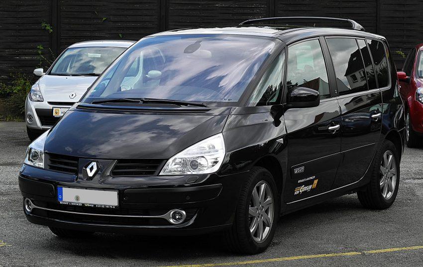 Schwarzer Renault Espace IV (Frontansicht)