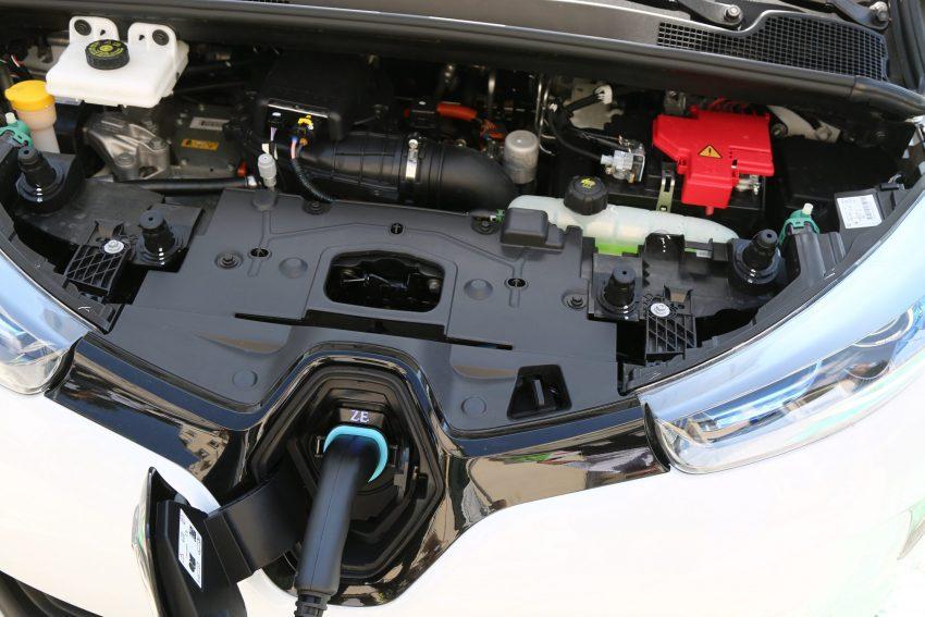 Ansicht des Renault Zoe Motorraum