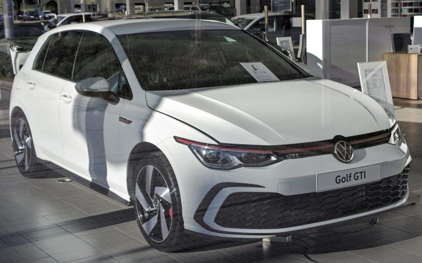 VW Golf VIII GTI in der Frontansicht