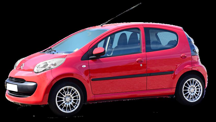 Citroen C1 (rot, Seitenansicht)