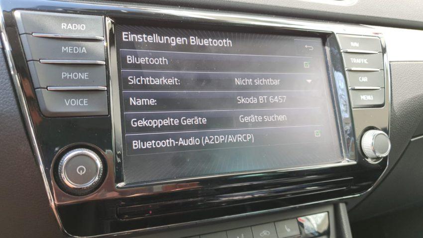 Einstellungen des Skoda Bluetooth Systems