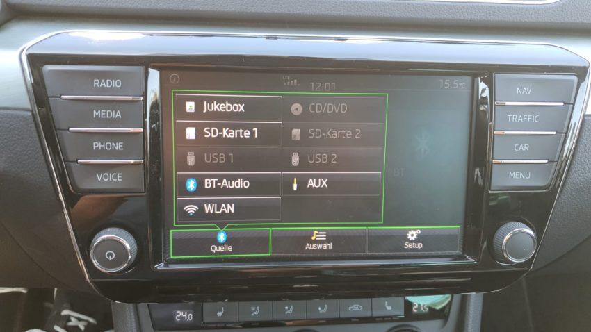 Musik per Bluetooth im Skoda abspielen